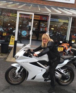 Erica and new VFR800